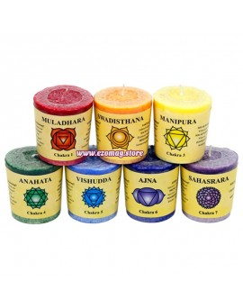 """Терапевтичен комплект ароматни свещи """"7 чакри"""""""
