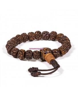 Будистка молитвена броеница: мала/гривна рудракша с 21 семена