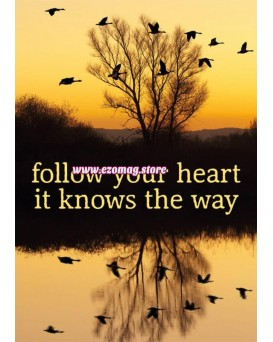 """Поздравителна картичка """"Follow your heart - it knows the way"""""""