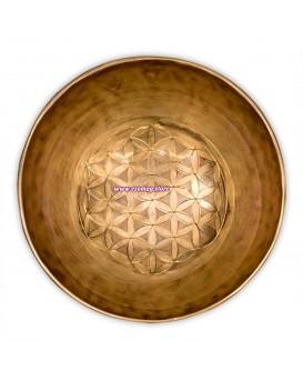 """Лечебна тибетска пееща купа """"Цвете на живота"""" 1020 гр."""